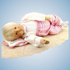 """Kathe Kruse baby doll """"Du Mein"""" life size, 1994 made, original clothes, mint"""