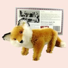 Steiff Fox 1910 Replica made 1989 with IDs and certificate mint condition