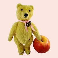 "Steiff Original Teddy Bear 8"" yellow mohair vintage 1950 to 1964"