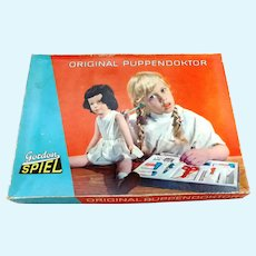 1970s doll doctor play set in original box, made in Eastern Germany