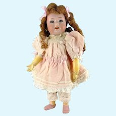 """Revalo doll 1910's bisque head, ball jointed body, 10"""""""