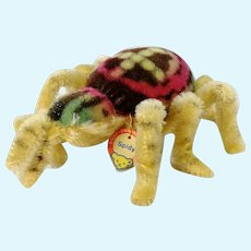 "Steiff Spider Spidy with ID large 9"", produced 1960 to 61 only"