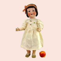 """Bisque head doll Heubach 342 made 1926 jointed toddler body 22"""" tall"""