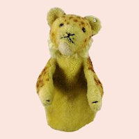 Steiff Young Lion Hand Puppet with button, wool plush rare 1949 to 54 produced only