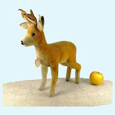 "Steiff Roebuck Deer all IDs large 14"" tall 1965 to 67"