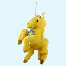 Vintage Unicorn with all IDs 1995 only ltd Edition heraldic animal of Steiff's hometown
