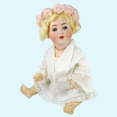 "Blue Eyed Blond Baby 18"" Alt, Beck & Gottschalck bisque mold 1361 made 1912"