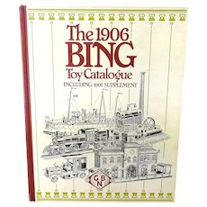 1906 Bing Toy Catalogue vintage reprint from 1991 heavy 444 pages cardboard cover