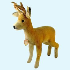 "Steiff Roebuck Deer all IDs large 14"" tall 1965 to 67"