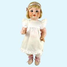 "Berggrub German bisque head doll 1930s made 13"" tall"