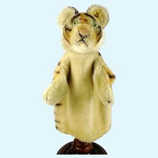 Steiff Tiger hand puppet with IDs vintage made 1965 to 78