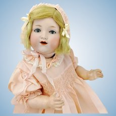 "Armand Marseille baby with bisque head, 1925 made, 20"" character doll"