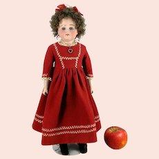 """Antique Doll Bisque shoulder head kid body around 1870 unknown maker 17"""""""