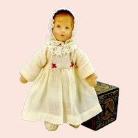 Kathe Kruse dollhouse doll 5 inches 1990s vintage original clothes