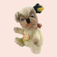 Steiff ball dog Mopsy with all IDs vintage produced 1960 to 61 only 6""