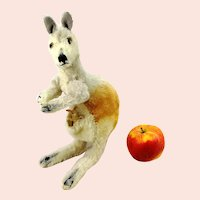 "Steiff kangaroo with baby 11"" vintage 1965 to 66"