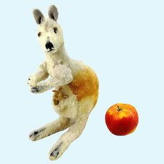 "Steiff kangaroo with baby 11"" vintage 1965 to 66"