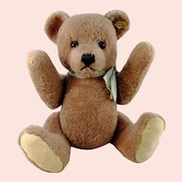 "Steiff Dralon Teddy Petsy with IDs 14"" vintage 1970 to 1976 produced"