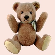 """Steiff Dralon Teddy Petsy with IDs 14"""" vintage 1970 to 1976 produced"""