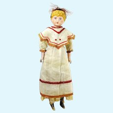 "Alt, Beck & Gottschalck bisque shoulder head 1880 to 1900 on cloth body 21"""