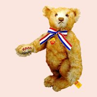 "Steiff Bear Alice 1903 1993 commemorative ltd edition mint 16"""