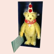 "Steiff Teddy Clown 1926 replica mint in box all IDs 13"" vintage 1986"