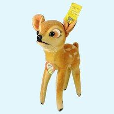 """Steiff Bambi with all IDs 1959 to 1964 made vintage 6"""" velvet deer"""