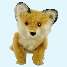 Steiff Fox 1910 Replica with ID fully jointed made 1989 Museum Collection