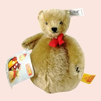 Steiff Roly Poly Bear Replica 1908 all IDs 1988 made mint condition rattle inside