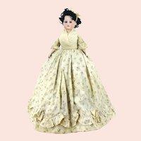 "Armand Marseille shoulder head around 1900 Tea Cozy Doll 16"" tall"