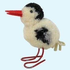 Steiff Woolen Seagull Pompom Bird vintage 1954 to 1961 wire legs swivel head