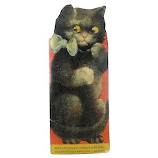 Vintage children's book in cat shape with working squeaker 1930s Germany