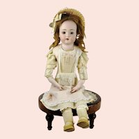 Antique German bisque doll mold 422 jointed kid body made around 1900