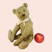 "Steiff Original Teddy silk plush 1948 to 1949 only 14"" well loved"