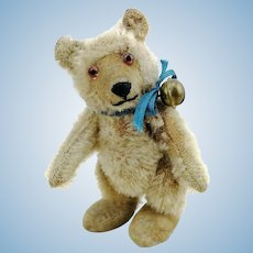 """Steiff teddy baby bear miniature, 3+"""", fully jointed, vintage 1930 to 1957"""