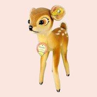 """Steiff Bambi with all IDs 1951 to 1958 made vintage 9"""" velvet deer"""