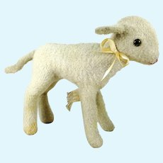 Steiff Lamb with US Zone Tag 5 1/2 inches vintage 1949 to 1953