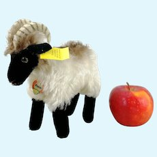 "Steiff Mountain Sheep all Steiff IDs 7"" vintage 1959 to 1964"