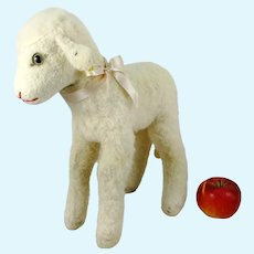Largest Ever Steiff Lamb with IDs vintage 1969 to 1973 standing 14""