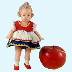 German celluloid doll by Milon Gehler 7 inches 1950s vintage