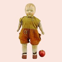 """1924 German composition and cloth body walking doll Sico, 20"""", makers mark"""