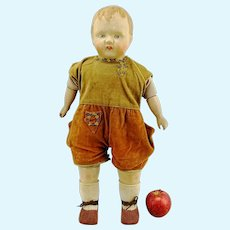 "1924 German composition and cloth body walking doll Sico, 20"", makers mark"