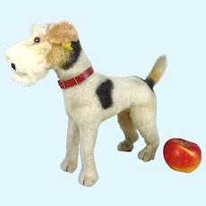 """Steiff Foxterrier Foxy with IDs 1968 vintage made large 11"""""""