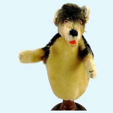 Steiff Dachshund Hand Puppet, vintage 1965 to 66 Only