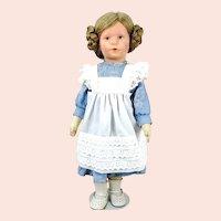 """Käthe Kruse girl German Child 20"""" made 1955 to 1958"""