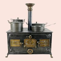 """Marklin Cooker around 1900 middle Chimney original dishes 10 by 5"""""""