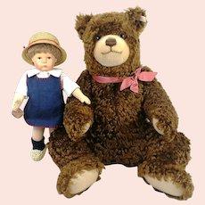 Kruse Doll and Steiff Bear Set Fritzl and Hein all IDs 1996 ltd edition mint