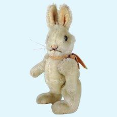 "Steiff Rabbit Niki with Original Bow jointed smallest 5"" vintage 1952 to 64"