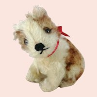 """Steiff puppy dog Molly with ID 1949 to 1961 vintage smallest 4"""" edition"""