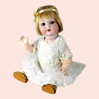 """AM mold 985 Baby Peggy Montgomery bisque head 10"""" made 1925"""